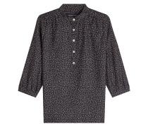 Bedruckte Bluse aus Baumwolle und Seide