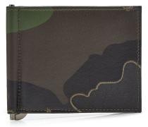 Bedrucktes Karten-Etui mit Leder und Nieten
