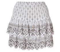 Embellished Cotton Mini-Skirt in White