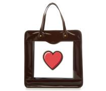Shopper Rainy Day Heart aus Lackleder