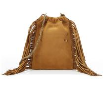 Bucket-Bag Gary Small aus Leder mit Fransen
