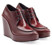 Wedge-Ankle Boots aus Leder