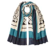 Print-Schal aus Wolle