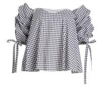 Karierte Off-Shoulder-Bluse Gabriella aus Baumwolle