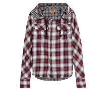 Kariertes Shirt aus Baumwolle mit Kapuze