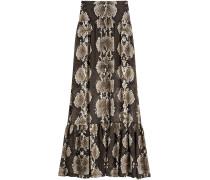 Maxi-Skirt aus Seide mit Schlangen-Print