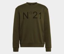 Sweatshirt mit Label-Detail