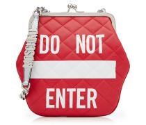 Schultertasche Do Not Enter aus gestepptem Leder