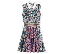 Flared-Dress aus Baumwolle mit Print