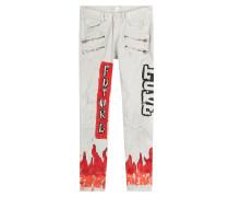 Bedruckte Skinny Jeans