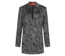 Jersey-Blazer im Metallic-Look