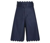 Wide Leg Shorts aus Baumwolle mit Muschelsaum
