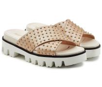 Riemensandalen aus Leder mit Nieten