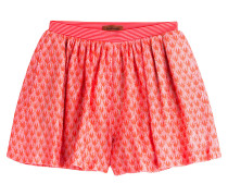 Shorts aus Häkelstrick