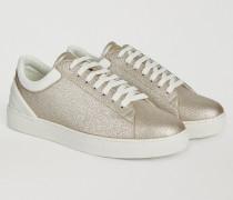 Sneakers Aus Kunstleder In Lamé-optik