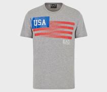 T-Shirt aus Jersey mit Gedrucktem Ländernamen Auf Dem Rücken