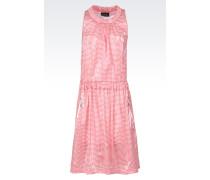 Kleid mit Rundhalsausschnitt aus gestreiftem Jersey