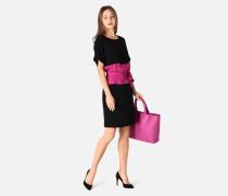 Kleid Mit Kontrastgürtel