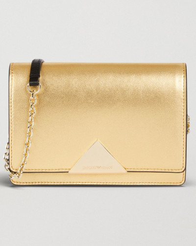 Mini Crossbody Bag aus Laminiertem Leder