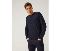 Pullover Aus Jacquard-stoff Mit Rückseitig Aufgedrucktem Logo