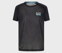 T-Shirt aus Baumwollstretch mit Logo Ea7