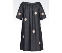 Kleid aus Denim mit U-Boot-Ausschnitt