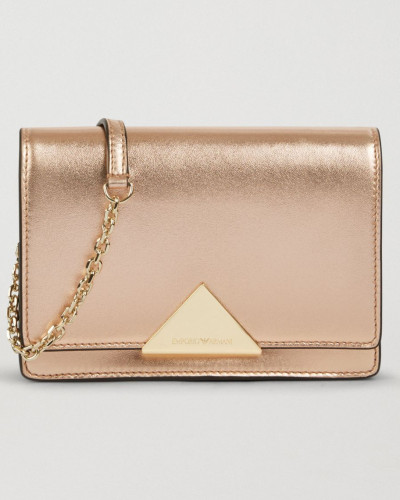 Crossbody Bag aus Laminiertem Leder
