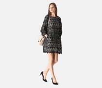 Kleid In A-linie Aus Makramee Mit Weitem Rundhalsausschnitt