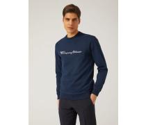 Sweatshirt Aus Baumwollgemisch Mit Logo