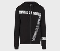 Sweatshirt mit Kapuze und Logo-Tape