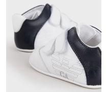 Sneaker aus Leder mit Klettverschluss