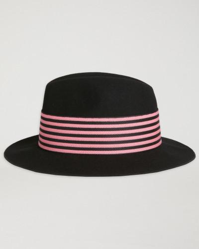 Fedora aus Wolle mit Zweifarbigem Hutband