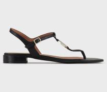 Direkt Besohlte Sandalen aus Nappa mit Logo-plakette