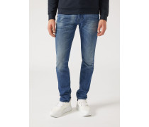 Slim Fit Jeans J06 Aus Denim Stone Washed