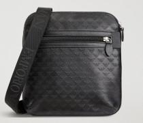 Crossbody Bag Aus Leder Mit Allover-logo