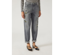 Relaxed Fit Jeans J90 Mit Blüten