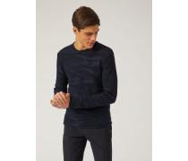 Pullover Aus Leichtem Jacquard-strick