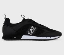 Sneaker Black&white Laces aus Mesh mit Metall-Logos an Der Sohle