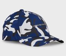 Baseballcap in Tarn-Optik mit Metall-Logo