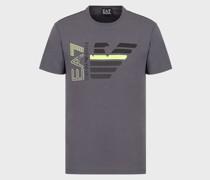 T-Shirt aus Baumwolle mit Adler und Logo