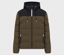 Zweifarbige Jacke mit Kapuze