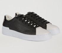 Zweifarbiger Sneaker Aus Kunstleder