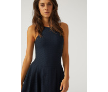 Kleid Mit Tellerrock Aus Jacquardstoff