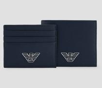 Geschenkbox Bestehend aus Portemonnaie und Pvc-kartenhalter mit Metalllogo