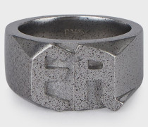 Ring aus Silberfarbenem Edelstahl