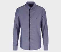 Button-down-hemd aus Jacquard-Stoff