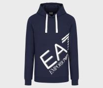 Sweatshirt aus Baumwolle mit Kapuze und Logo