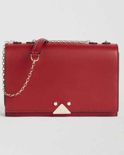 Crossbody Bag aus Glattem Leder mit Logo-detail