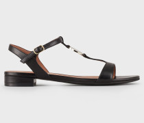 Sandalen aus Nappaleder mit Logoplakette