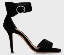 Sandalen aus Samt mit Riemen